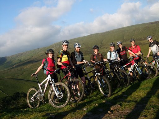 The riders set out