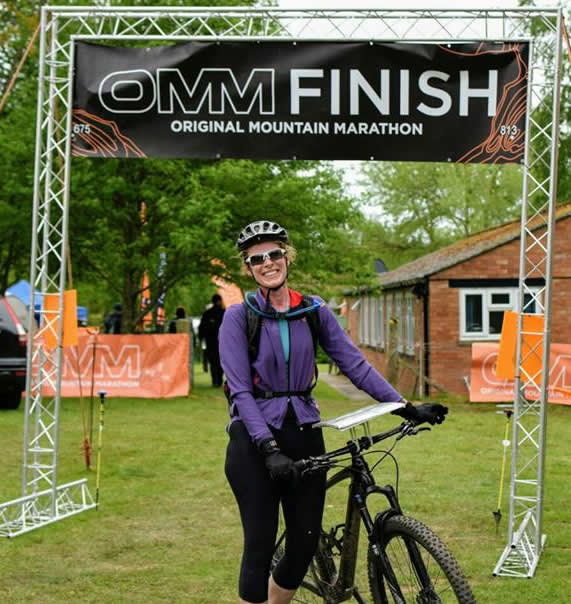 Maggie at the Finish of OMM April 2017