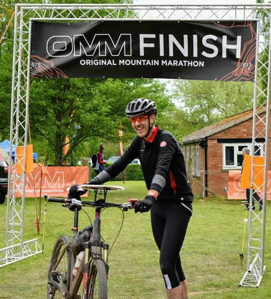 Mark McPhillips at the finish of OMM April 2017